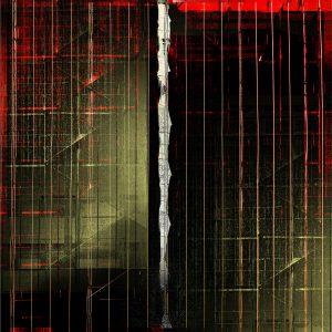 """Night Scaffold,"" print by Iskra"