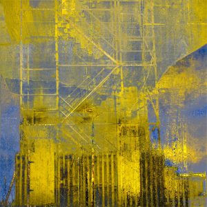 The Golden Scaffold Print by Iskra