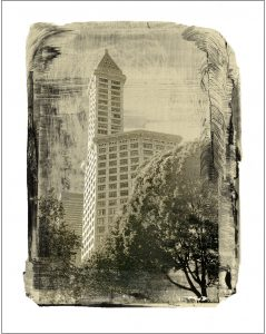 Smith Tower Landmark Print by Iskra