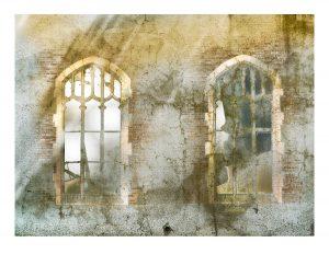 deux fenetres Church windows print