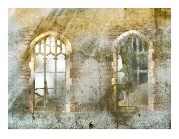 deux fenetres Church windows print