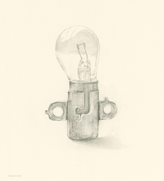 Lightbulb Optimist in Training Drawing by Iskra