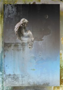 Painter's Angel with Moon