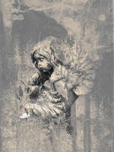Smoke Angel print by Iskra