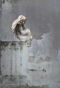 Angel in Silver Sky print by Iskra