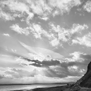 Cloud forms at Double Bluff Whidbey Island by Iskra
