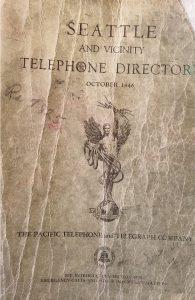 Vintage Phone Book Seattle