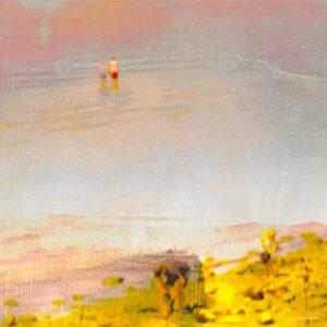 Beachcombers in Golden Light by Iskra