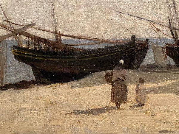 Camille Corot The Beach at Etretat